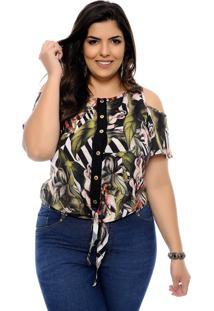 Camisa Elegance All Curves Plus Size Giovanna Verde