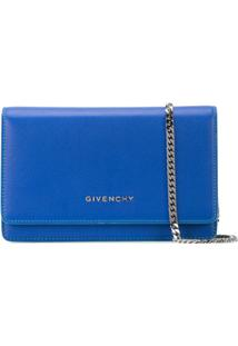 Givenchy Carteira De Couro Com Logo - Azul