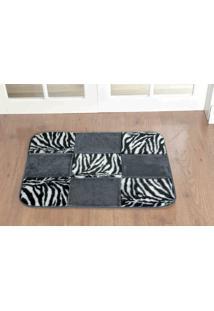 Tapete Guga Tapetes Retangular Patchwork Zebra