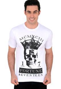 Camiseta Fortune 17 King Skull Branco