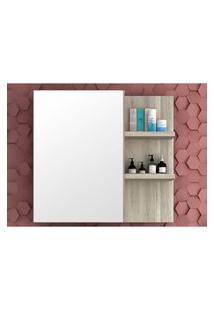 Armário Para Banheiro Com Espelho Na Porta 80Cm Barrique