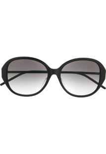 Saint Laurent Eyewear Óculos De Sol Oversized Degradê - Preto