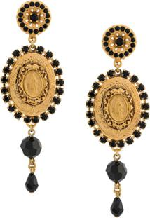 Dolce & Gabbana Par De Brinco Medallion - Dourado