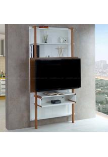 Estante Home Theater Para Tv Até 42 Polegadas Karl 180 X 99,8 X 25,5 Branco/Freijó - Urbe Móveis