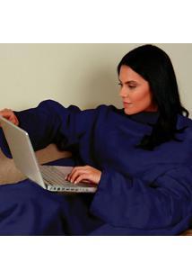 Cobertor Com Mangas Marinho - Zona Criativa