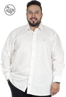 Camisa Plus Size Manga Longa Bigshirts Estamp - Foguete