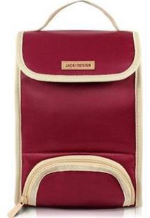 Necessaire Térmica Jacki Design 2 Em 1 - Unissex-Vermelho Escuro