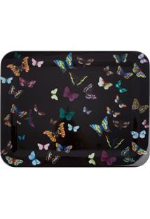 Fornasetti Bandeja Farfalle - Preto