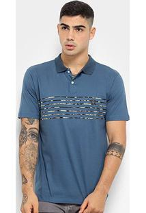 Camisa Polo Hd Trench Masculina - Masculino-Azul Escuro