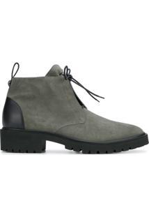 Giuseppe Zanotti Design Ankle Boot De Camurça Com Laço - Green