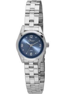 Relógio Condor Mini - Feminino-Prata+Azul