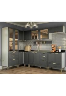 Cozinha Completa 8 Peã§As Americana Multimã³Veis 5651 Branco/Grafite - Branco/Incolor - Dafiti