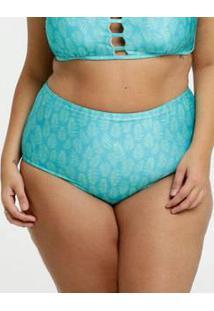 Biquíni Feminino Avulso Estampa Tropical Neon Plus Size Marisa