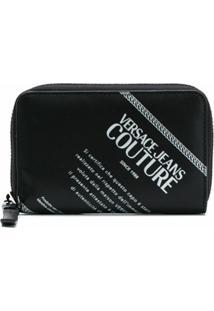 Versace Jeans Couture Carteira Com Logo - Preto