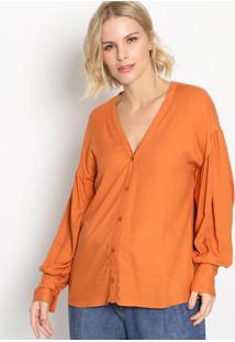 Camisa Lisa Com Franzidos - Marrom - Colccicolcci