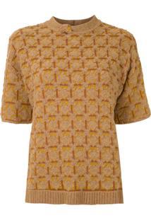 Nk Blusa Lux Em Jacquard - Amarelo