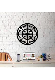 Escultura De Parede Wevans Mandala Ncora + Espelho Decorativo