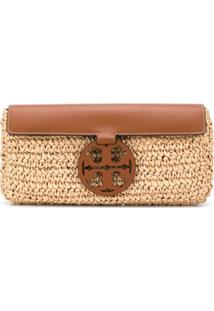 Tory Burch T-Medallion Clutch Bag - Neutro