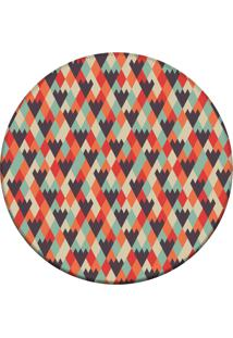 Tapete Love Decor Redondo Wevans Geométrico 84Cm
