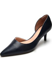 Scarpin Dafiti Shoes Fosco Azul-Marinho