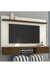 Painel Para Tv 2 Portas Cecilia 266122 Off White/Savana - Madetec