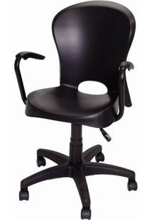 Cadeira Jolie Com Rodizios Preta - 20061 - Sun House