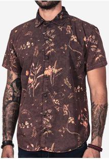 Camisa Floral Marmorizada 200161