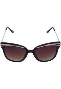 Óculos De Sol Khatto Cadilac Feminino - Feminino-Marrom