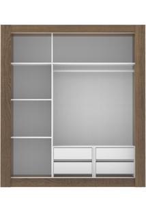 Guarda-Roupa Texas Plus 3 Portas Com Espelho Rustic Madesa