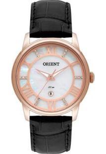 Relógio Orient Feminino Madrepérola Analógico - Feminino-Preto