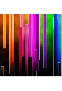 Quadro Abstrato Faixas Uniart Colorido 45X45Cm