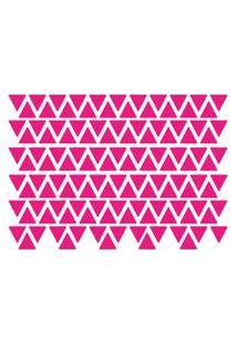 Adesivo De Parede Triângulos Rosa Pink 121Un