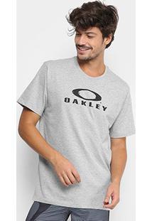 Camiseta Oakley Glitch Branded Masculina - Masculino-Cinza Claro