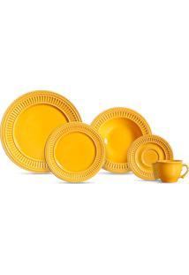 Aparelho De Jantar 20 Peças Poppy - Scalla - Amarelo
