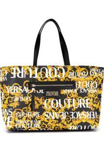 Versace Jeans Couture Bolsa Saco Matelassê - Preto