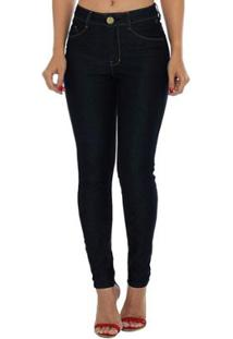 e263cac53 Calça Jeans Denuncia Mid Rise Skinny Feminina - Feminino-Azul
