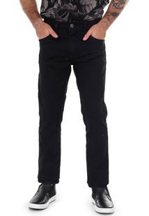 Calça Jeans Tradicional Masculina Max Denim - Preto