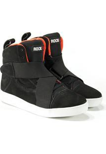 Netshoes. Tenis Rock Fit Detroit Em Couro Preto E ... 0e0d3b3523402