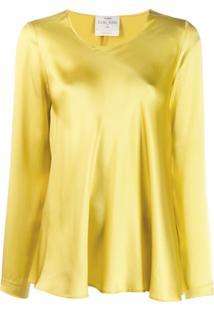 Forte Forte Blusa De Cetim - Amarelo