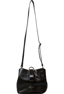 Bolsa Em Couro Recuo Fashion Bag Transversal Tabaco