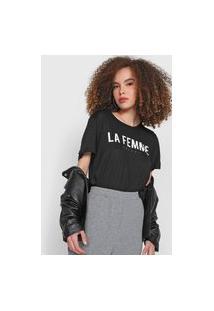 Camiseta Colcci La Femme Preta