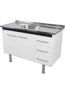 Gabinete De Cozinha Sonic 147,3X55Cm Branco E Preto Bonatto
