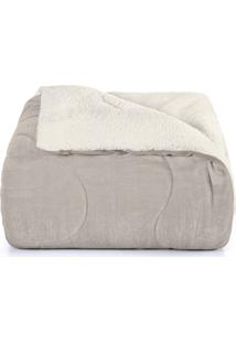 Edredom King, Hedrons, Sherpa, 2,80 X 2,60, Cinza