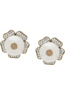Dolce & Gabbana Faux-Pearl Detailed Earrings - Branco