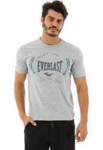 Camiseta Algodão Everlast Básica Masculina - Masculino-Mescla