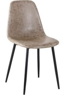 Cadeira Tania Cinza E Preta