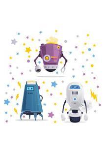 Adesivo De Parede Infantil Robôs Para Quarto