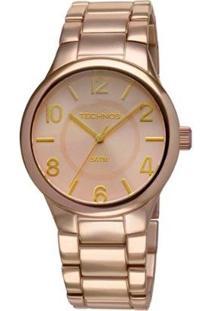 Relógio De Pulso Technos Feminino Unique - Feminino-Dourado