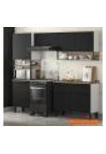 Cozinha Compacta Bali 5 Pt Preta