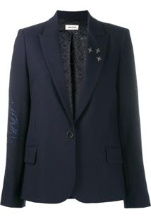 Zadig&Voltaire Victor Crystal-Embellished Blazer - Azul